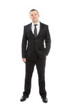 Young casual succesful full body business man Stock Image