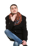 Young Casual Unshaved Man Royalty Free Stock Photography