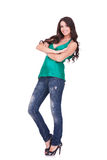 Young casual woman Stock Image