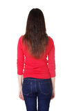 Young casual woman from behind Royalty Free Stock Photo