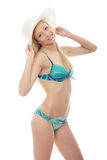 Young casual woman in bikini Stock Photography