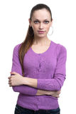 Young casual woman isolated Stock Image