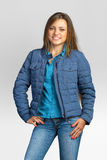 Young casual woman in a jacket. Royalty Free Stock Image