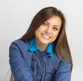 Young casual woman in a jacket Royalty Free Stock Images
