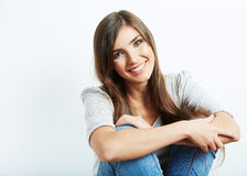 Young casual woman portrait Stock Photos