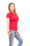 Young casual woman posing Stock Image
