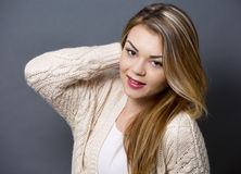 Young casual woman Stock Photos