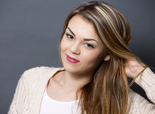 Young casual woman Royalty Free Stock Photos