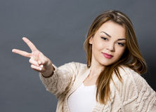 Young casual woman Royalty Free Stock Images
