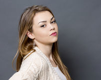 Young casual woman Stock Photo
