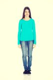 Young casual woman standing. Royalty Free Stock Images