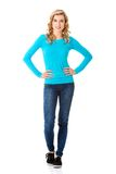 Young casual woman style. Studio portrait Stock Image