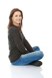 Young casual woman style. Studio portrait Royalty Free Stock Photo