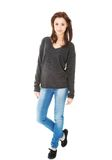 Young casual woman style. Studio portrait Royalty Free Stock Images