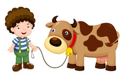 Young cattle and cow Stock Image
