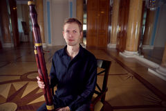 Young Caucasian Bassoon Musician Stock Images