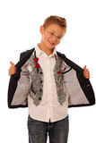 Young caucasian boy isolated over white backgrund Stock Image