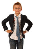 Young caucasian boy isolated over white backgrund Stock Photo