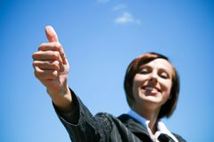 Businesswoman gesturing okay Royalty Free Stock Images
