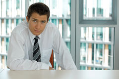 Young caucasian businessman Royalty Free Stock Photos