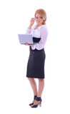 A young Caucasian businesswoman in formal clothes Stock Photo