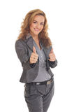 A young Caucasian businesswoman in formal clothes Royalty Free Stock Photography