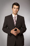 Young caucasian confident businessman Royalty Free Stock Photos