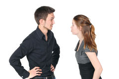 Young caucasian couple arguing Royalty Free Stock Photo