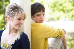 Young caucasian couple in love Stock Photos