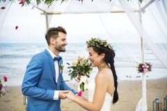Free Young Caucasian Couple`s Wedding Day Stock Photos - 119855333