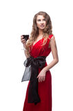 Woman with wineglass Stock Photography