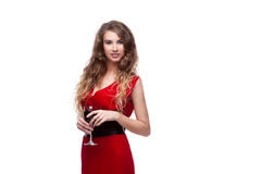 Woman with wineglass Royalty Free Stock Image