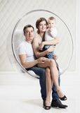 Young Caucasian family with baby boy Stock Photos