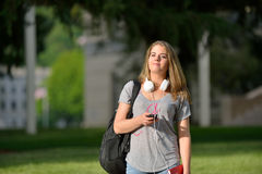 Young Caucasian Female Student Stock Photography