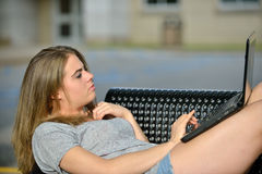 Young Caucasian Female Student Stock Photo