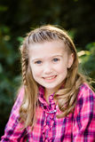 Young Caucasian Girl With Braided Hair stock photos