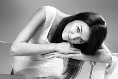 Young Caucasian girl Stock Photo