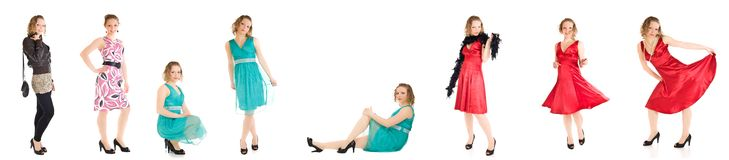 Young caucasian girl different poses isolated Royalty Free Stock Image