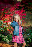 Young Caucasian Girl Strikes a Pose royalty free stock images