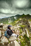Young caucasian hiker Royalty Free Stock Image