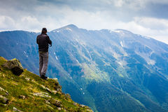 Young caucasian hiker Stock Photography