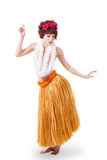 Young caucasian hula dancer Stock Image
