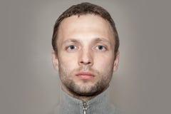 Young Caucasian Man close up portrait Stock Photos