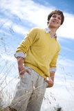 Young caucasian man outdoor Stock Images