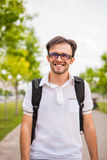 Young caucasian man portrait. Outdoor Stock Images