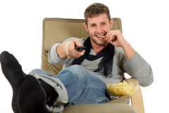Young caucasian man, relaxation time Stock Photos