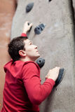 Rock climbing indoors Stock Image
