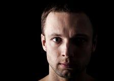 Young Caucasian man's closeup portrait Stock Photography