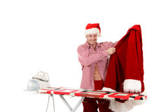 Young caucasian man, Santa Claus Royalty Free Stock Images
