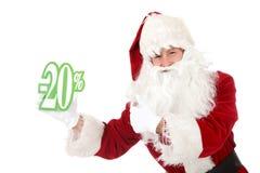 Young caucasian man Santa Claus, discount stock photography